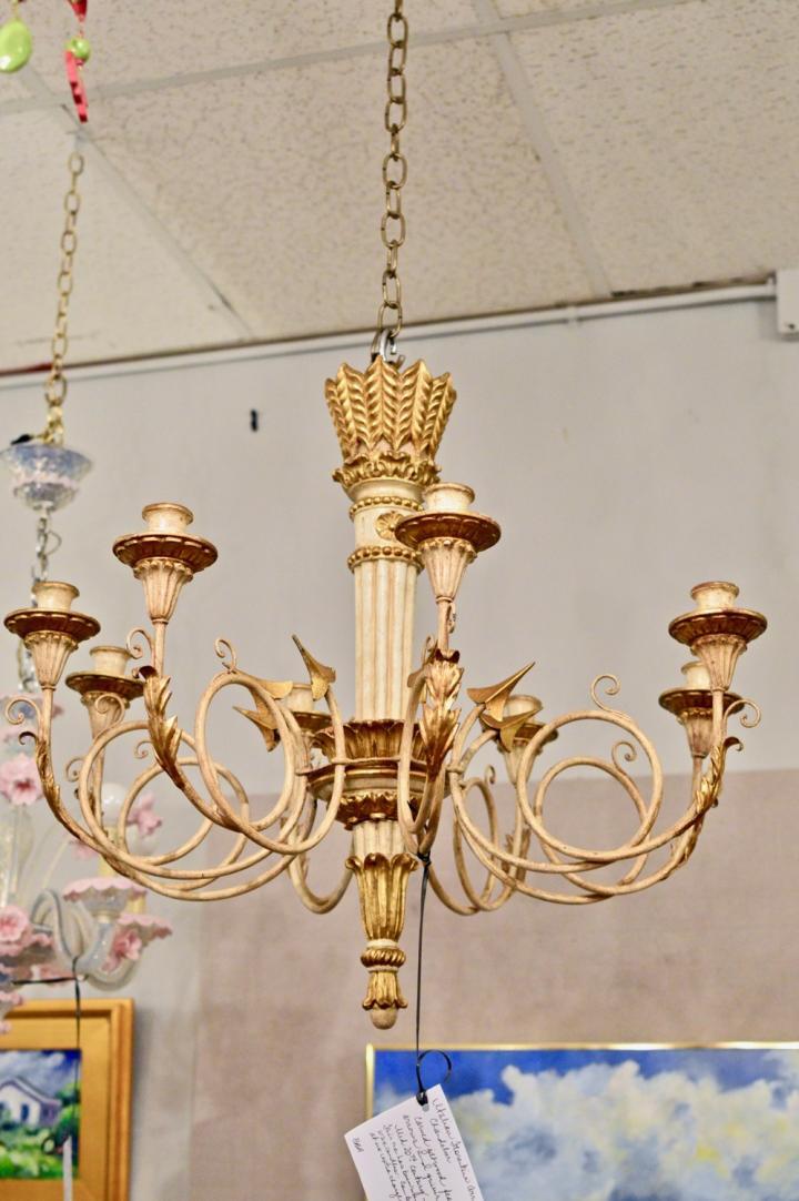 Italian Florentine arrow chandelier