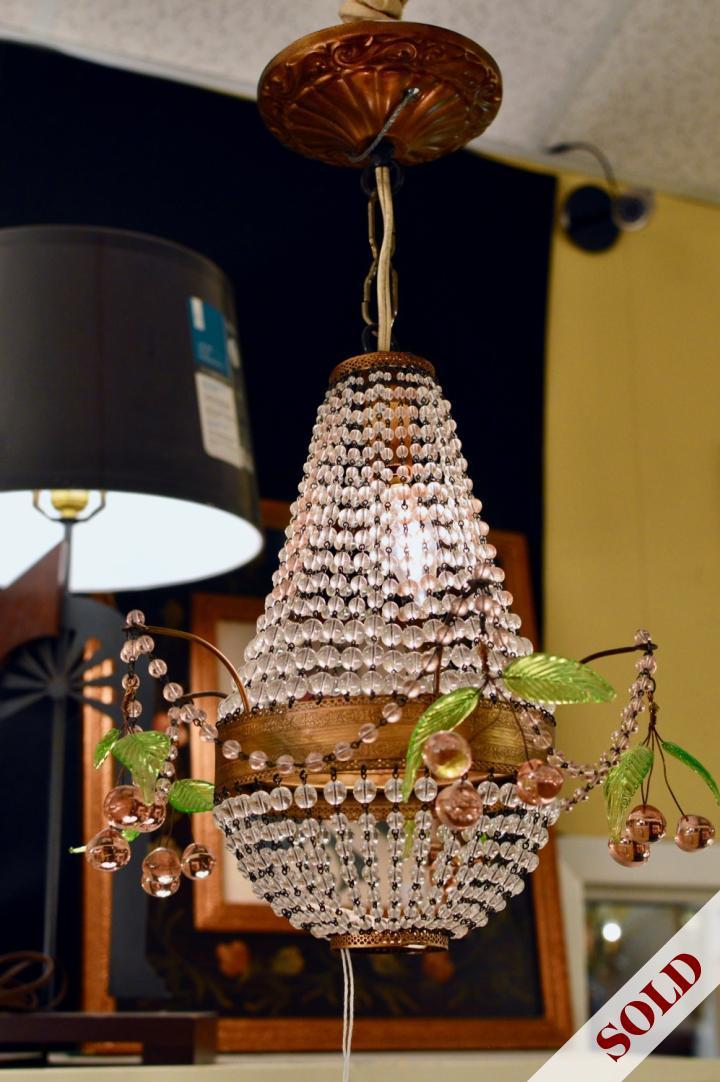 Vintage chandelier w/ cherry clusters