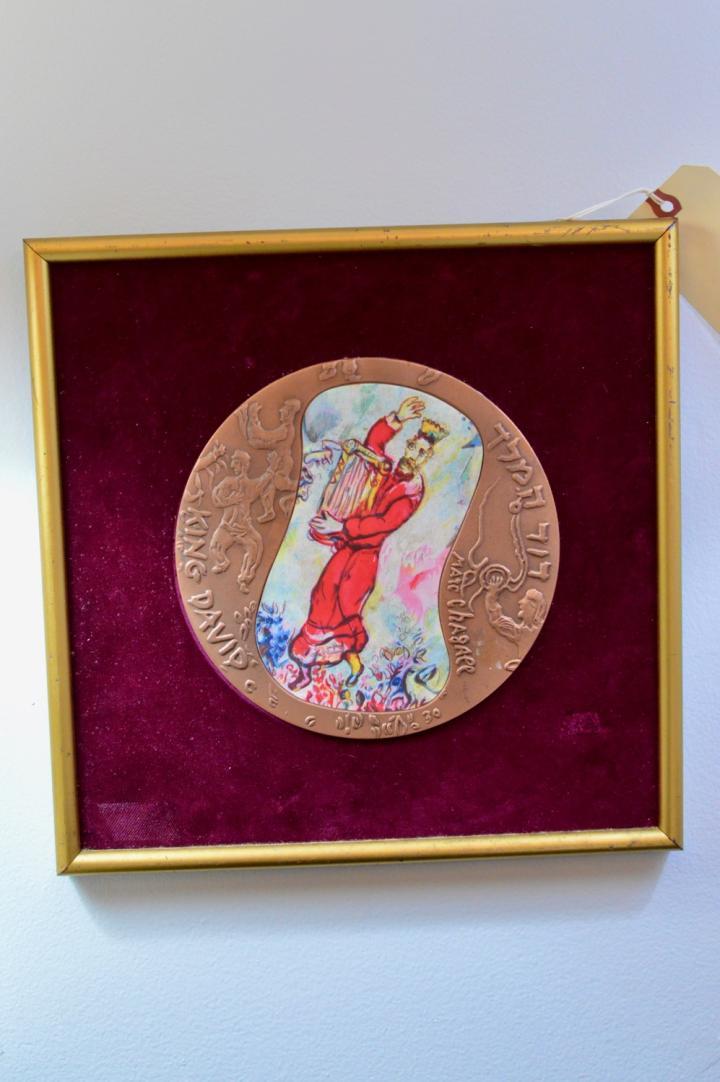 Marc Chagall King David bronze plaque