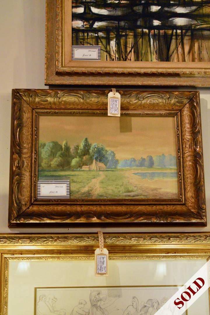 American landscape signed A.F. King