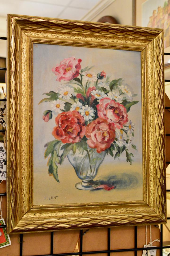 Roses and daisies painting