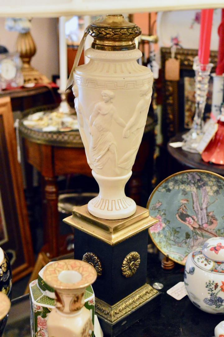 Vintage Hellenic raised relief lamp.