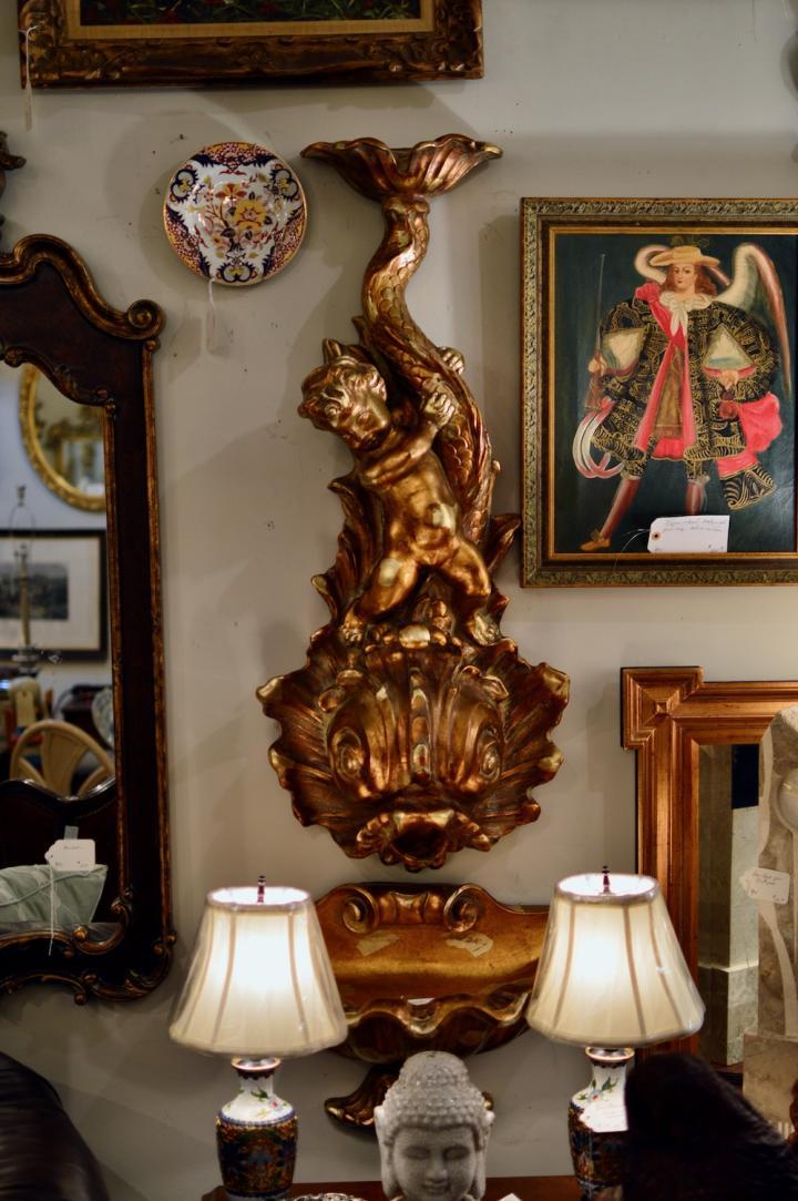 Lavabo - gilt wood