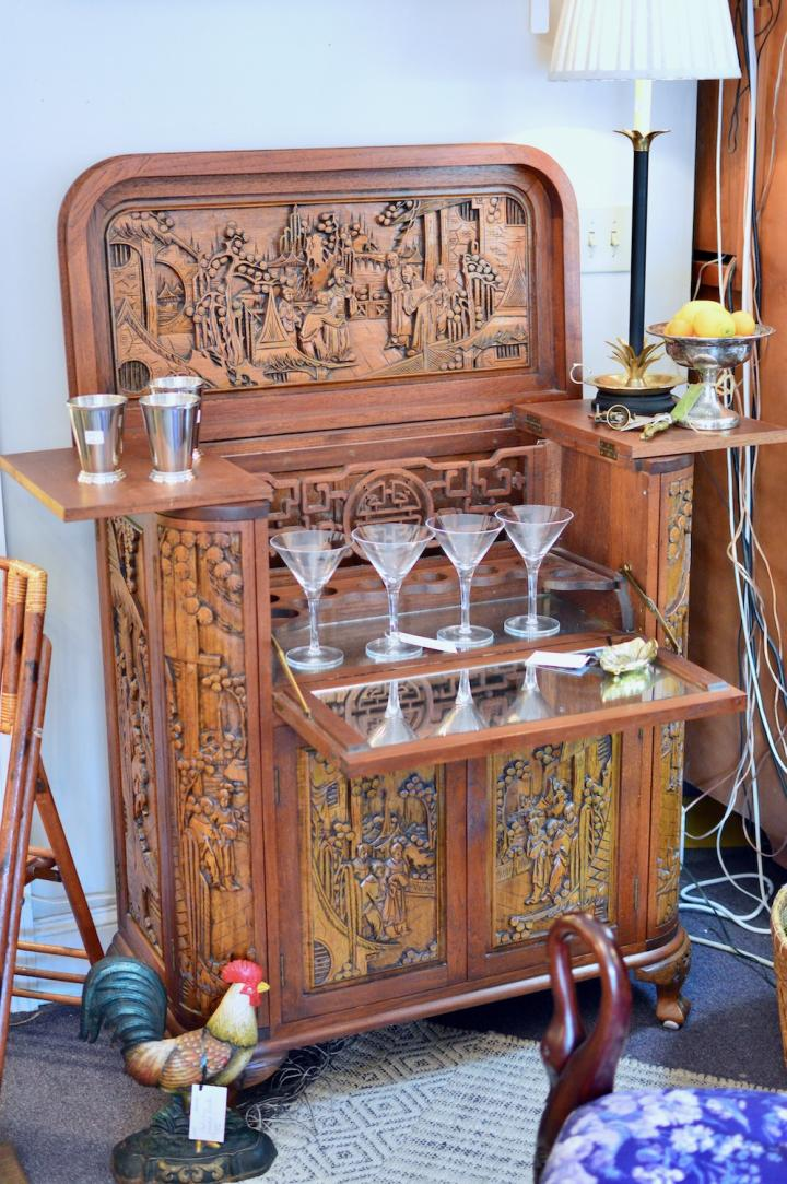 Carved Asian bar