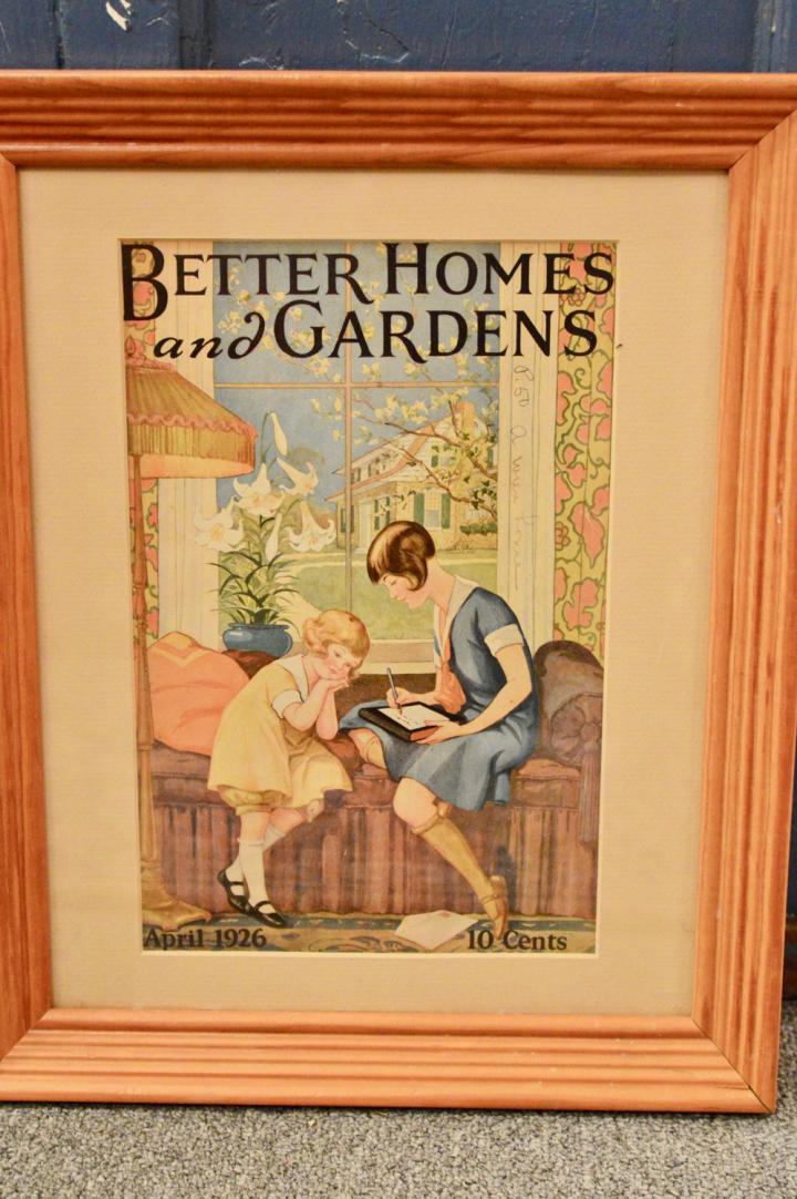 Better homes and Gardens framed cover