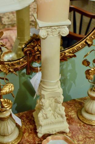 Cherub candlestick w/ candle