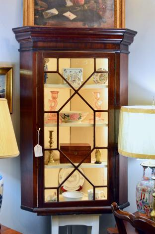 Chippendale hanging cabinet w/ lock