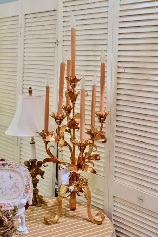 Gilt candelabra made in Italy
