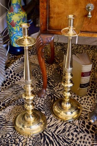 Brass candlesticks