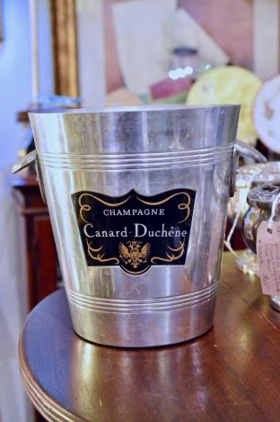 Vintage French bistro champagne bucket