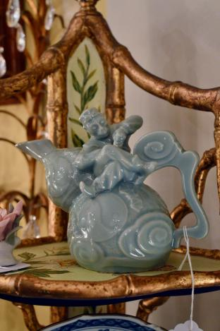 Bombay celadon monkey pitcher