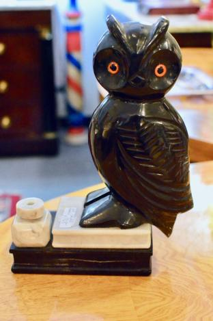 Carved marble owl
