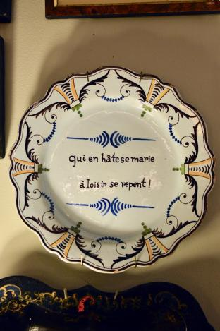 19th century French fiancé plate