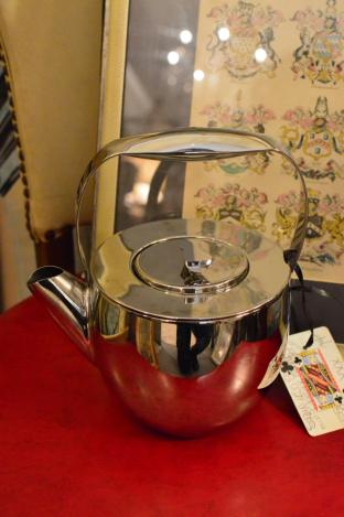 Stainless steel mid century coffee pot