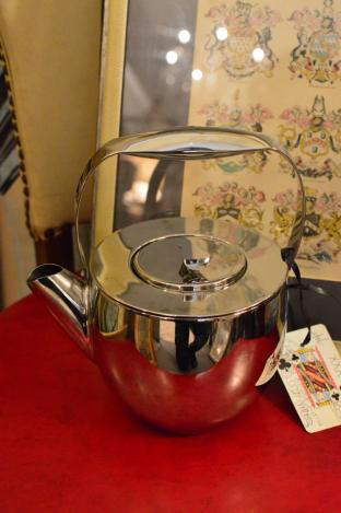 Stainless steel mid century coffee pot