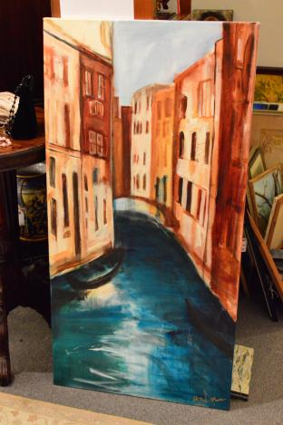 Tall Venice painting