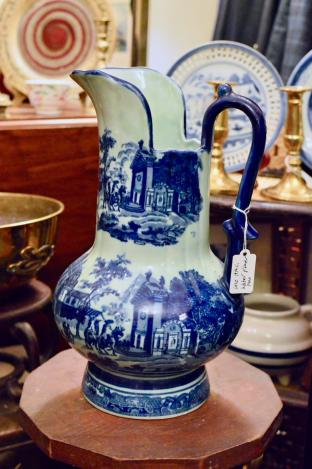 Late 19th century blue & white water pitcher