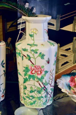 Japanese vase - butterflies & flowers