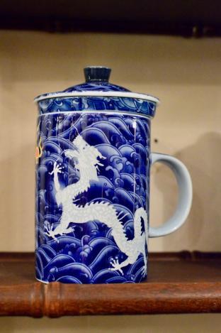 Blue dragon tea mug
