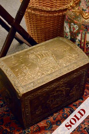 Brass coal box