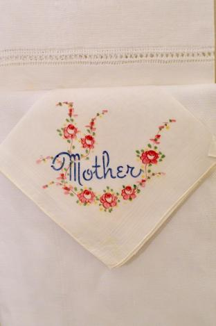 Mother hand painted hanky