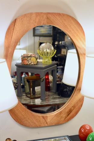 Wood wall mirror