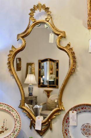 Vintage Italian Florentine gold mirror