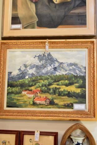 Swiss alpine landscape oil on canvas