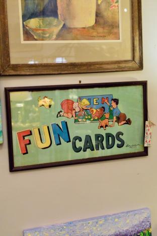 Framed vintage game box lid