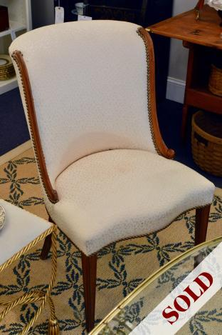 Hollywood Regency French style slipper chair - 1 of pair