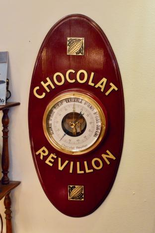 "Vintage French ""Revillon"" (chocolate) barometer"