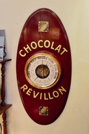 "Vintage French ""Revillon"" (chocolate) barometer"