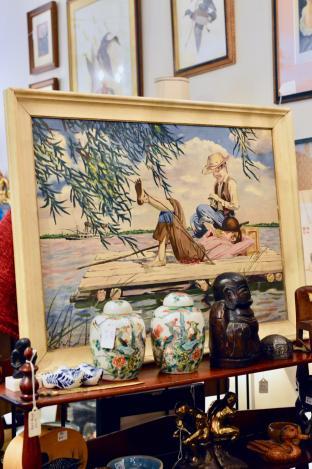 Huckleberry Finn painting