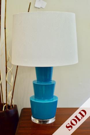 Blue lamp w/ acrylic base and shade