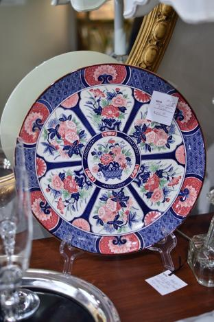 Large blue plate