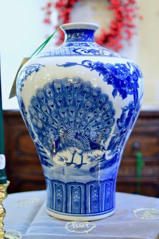 Blue & white vase