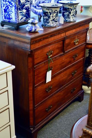 19th Century banded mahogany chest
