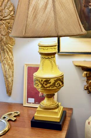 Tole lamp - 1 of pair