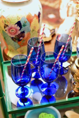Cobalt goblets - set of 4