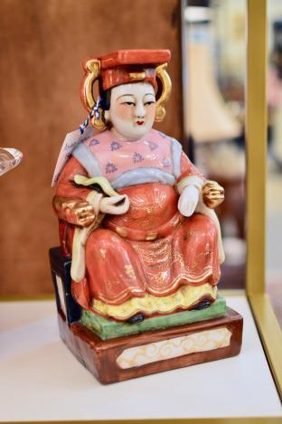 Asian emperor figure