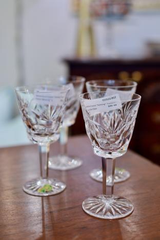 "Waterford Crystal ""Ashling"" pattern claret wine glass"