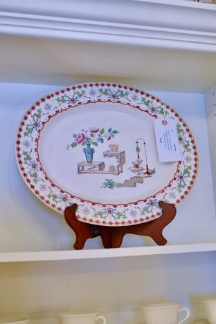 Late 19th C. English ironstone platter
