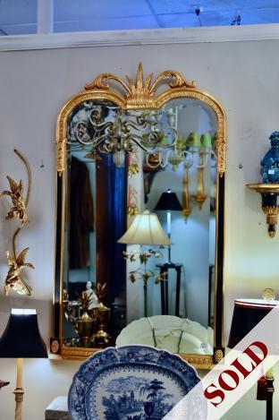 Gilt & black mirror