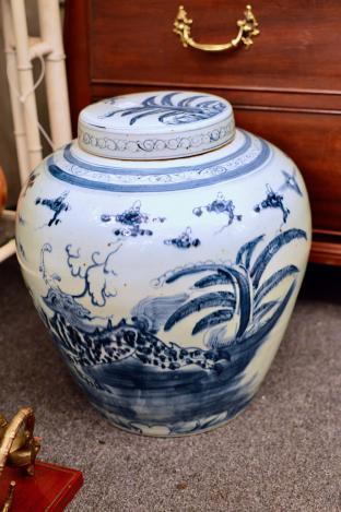 Large lidded jar