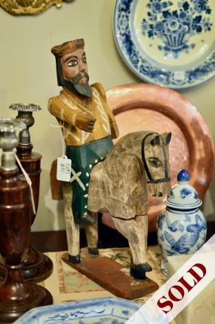 Wooden horse & man