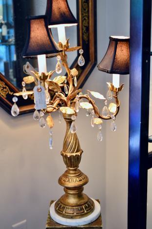 Beautiful gilt lamp