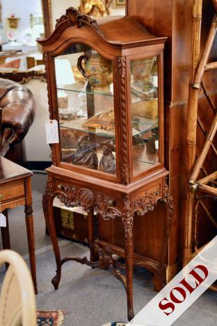 Exquisite curio cabinet