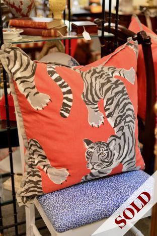 Tiger pimento pillow