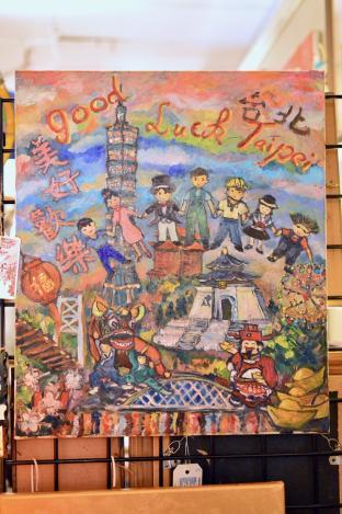 """""""Good Luck Taipei"""" painting"""