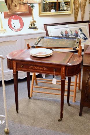 Antique English inlaid ladies desk C 1860